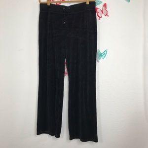 Jones New York sz XL  Black Velour Lounge pants